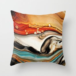 """Canadian Beaver"" Throw Pillow"
