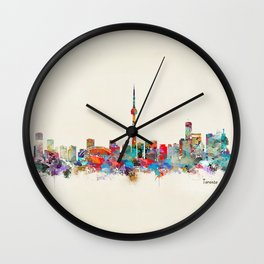 toronto canada skyline Wall Clock