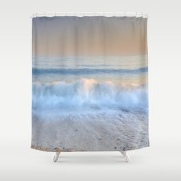 """Looking at the waves II"" Sea dreams Shower Curtain"