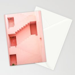 Muralla Roja photography print | abstract travel art | escher like building architecture photo Stationery Cards