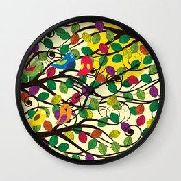 Singing birds and sunset Wall Clock