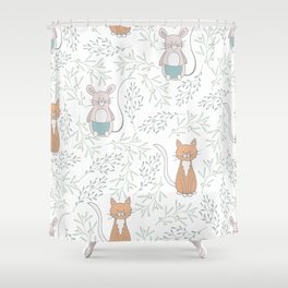 Cats and Rats Shower Curtain