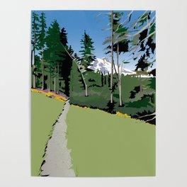 Mt Hood Meadows Hike Poster