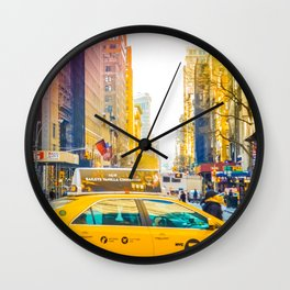 Colors of New York City Downtown Manhattan Wall Clock