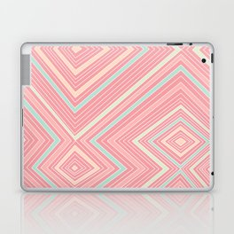 Pink, Green, Yellow, and Peach Lines - Illusion Laptop & iPad Skin