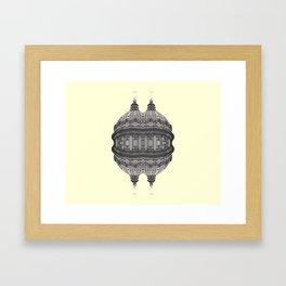 Baroque hipster ufo Framed Art Print