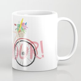 Bonjour! Bicycle Coffee Mug