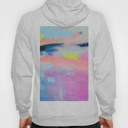 Dreamy Abstract pink Art  Hoody