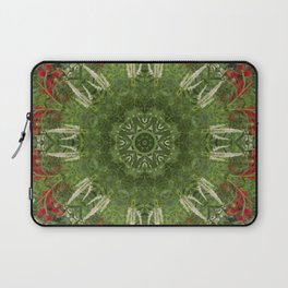 Cardinal flower and Culver's root kaleidoscope Laptop Sleeve