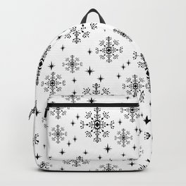 Snowflakes winter christmas minimal holiday black and white decor gifts Backpack