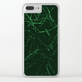 Green and Black Abstract Photo Manipulation Splash Clear iPhone Case