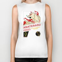 okami Biker Tanks featuring NES Okami by IF ONLY