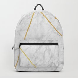 Geometric Collection (Marble & Gold) Backpack
