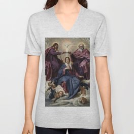 "Diego Velázquez ""Coronation of the Virgin"" Unisex V-Neck"