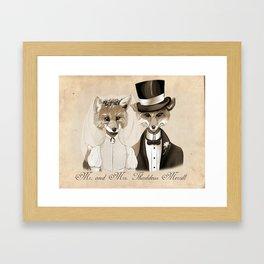 Mr. and Mrs. Thaddeus Merrill Framed Art Print