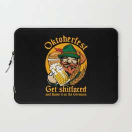 Oktoberfest Get Fucked Up Laptop Sleeve