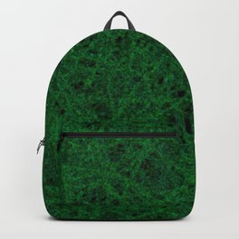 Emerald Green Thread Texture Backpack