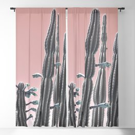 Cactus Bloom Blackout Curtain