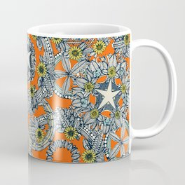 cirque fleur orange stone star Coffee Mug
