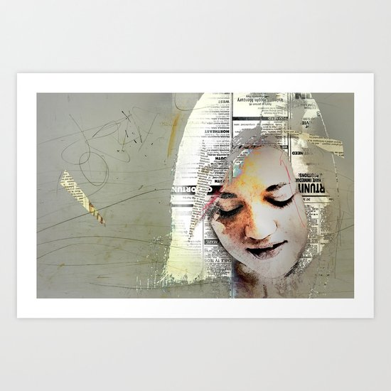 A Girl Named E Art Print