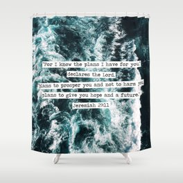 Jeremiah Ocean Shower Curtain