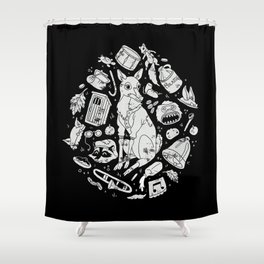 Schooltown Follies Shower Curtain