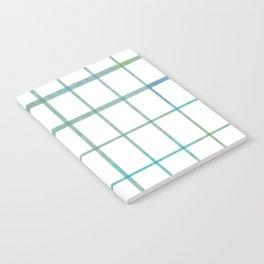 Green grid minimalist pattern Notebook