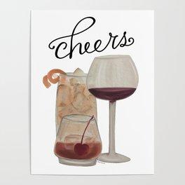 Cheers - Dark Drinks Poster