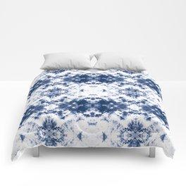 Shibori Tie Dye 3 Indigo Blue Comforters