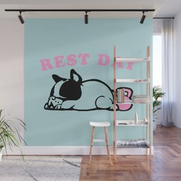 Rest Day Frenchie Wall Mural