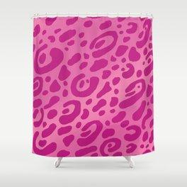 Pink Leopard Print Mug Pattern Shower Curtain
