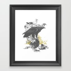 the watchers 3 B+W Framed Art Print