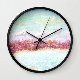 Paradise Watercolor Art Illustration. Wall Clock