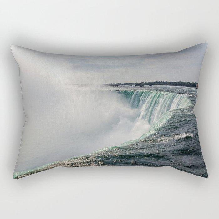 Water waterfall 5 Rectangular Pillow