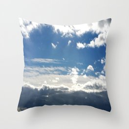 Windy Day Sky Throw Pillow