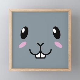 Baby Bunny. Kids & Puppies Framed Mini Art Print