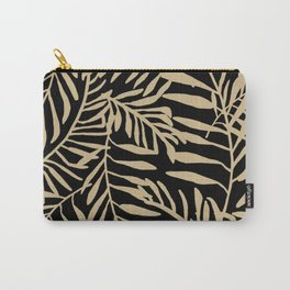 Neutral Palm Leaves Carry-All Pouch