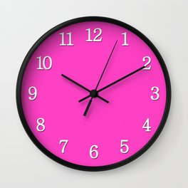 Bright neon pink color Wall Clock