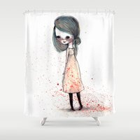sister Shower Curtains featuring Second Sister by solocosmo