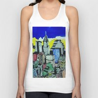 buildings Tank Tops featuring buildings by Halley's Coma