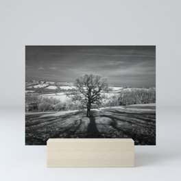 Lone tree over the East Somerset Railway Mini Art Print