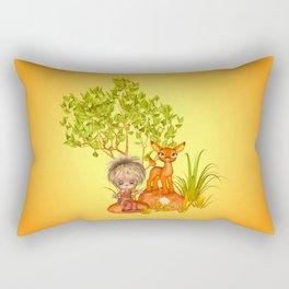 Orange rocks baby Rectangular Pillow