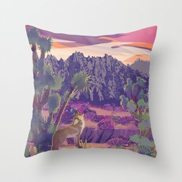 Castle Mountains National Monument Refuge Throw Pillow