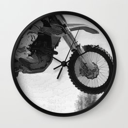 Motocross Dirt-Bike Racer Wall Clock