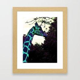 Alien Giraffe Has Landed Framed Art Print