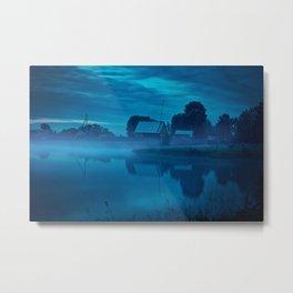 Contryside blue morning Metal Print
