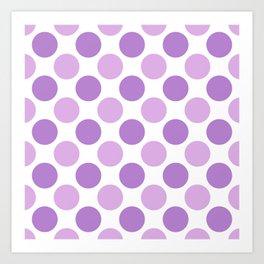 Lilac polka dots Art Print