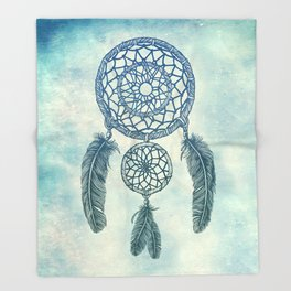 Double Dream Catcher Throw Blanket