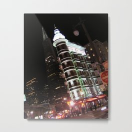 Sentinel Building at Night Metal Print