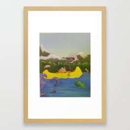 Carlton the cat Framed Art Print